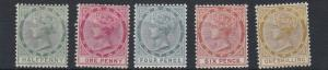 TOBAGO  1885 - 96     S G 20 - 24    VALUES TO 1/-  MH