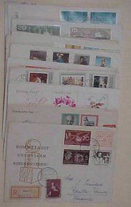GERMAN FDC REGISTERED 17 DIFF. 1957-1990