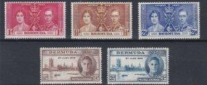 BERMUDA    1937 - 46   CORONATION & VICTORY  SETS  MH
