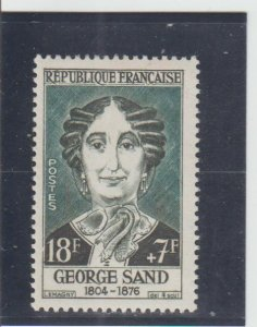 France  Scott#  B316  MH  (1957 George Sand)