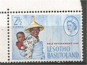 BASUTOLAND  1965 ,MNH 2 1/2c  Mosotho  Scott #97