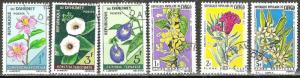 FRENCH WEST AFRICA 1967 71 TROPICAL FLOWERS Stamps Lot