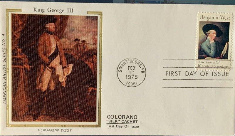 Colorano Silk 1553 Benjamin West Painting King George III