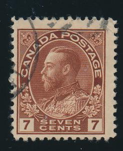 Canada Stamp Scott #114, Used - Free U.S. Shipping, Free Worldwide Shipping O...