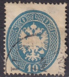 Austria  Lombardy-Venetia #18  F-VF  Used CV $90.00  (Z7964)