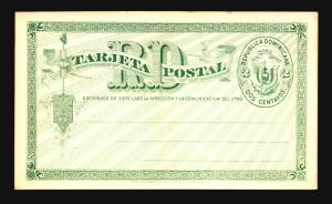 Dominican Republic 1890s UPU 2c White Card Unused - Z14805