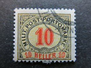 A3P23F264 Bosnia & Herzegovina Postage Due Stamp 1904 10h used