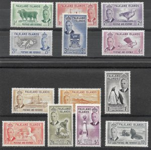 Doyle's_Stamps: VLH 1952 Falklands Islands King George VI Stamp Set