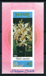 [79927] Philippines 1993 Flora Flowers Blumen Orchids Imperf. Sheet MNH