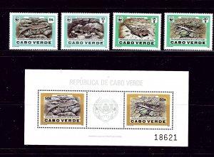 Cape Verde 491 - 95 MNH 1986 W.W.F. set and S/s