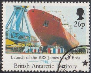 British Antarctic Territory 1991 used Sc #185 26p RRS James Clark Ross