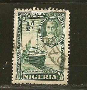 Nigeria 38 Wharf at Apapa King George V Used