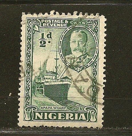 Nigeria 38 Wharf at Apapa King George V Used