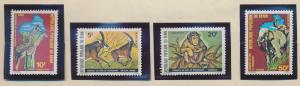 Benin Stamps Scott #439 To 442, Mint Never Hinged, Jungle Animal Set - Free U...