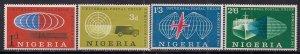 Nigeria 1961 QE2 Set Admission Nigeria into UPU MM SG 102 - 105 ( K656 )