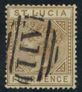 Saint Lucia Scott 33 Unused lightly hinged.