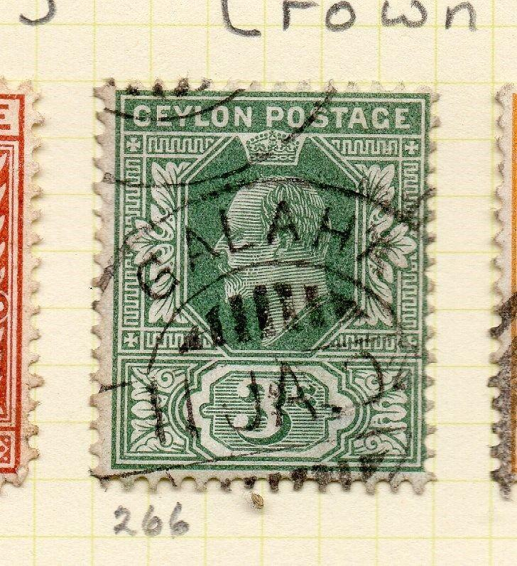 Ceylon 1903-05 Early Issue Fine Used 3c. 263399