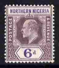 Northern Nigeria 1902 KE7 Crown CA 6d dull purple & v...