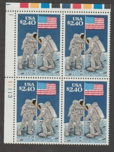 U.S. Scott #2419 Man on the Moon Stamp - Mint NH Plate Block