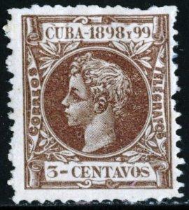 CUBA #163, UNUSED MINT HINGED - 1898 - CUBA511NS10