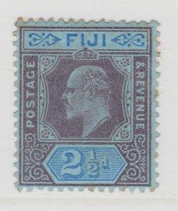 Fiji 1903 2 1/2d Wmk Crown CA MH* Stamp A22P14F8623