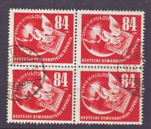 J22442 Jlstamps 1950 germay ddr blk/4 used #b21 dove