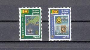 Sri Lanka, Scott cat. 1539-1540. Europa Stamps, 50th Anniversary issue.