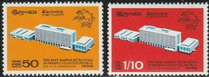 Ceylon, #444-445  MH From 1970