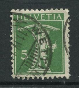 Switzerland - Scott 152 - Definitive Issue -1910 - VFU -Single 5c Stamp