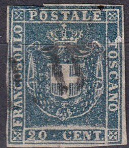 Tuscany #20 F-VF Unused  CV $225.00 (Z1750)