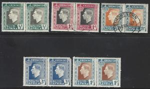 South Africa #74-78 Mint + Used Set of 4 Pairs cv $9.25