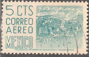 MEXICO C218, 5¢ 1950 Definitive 2nd Printing wmk 300 USED. F-VF. (647)