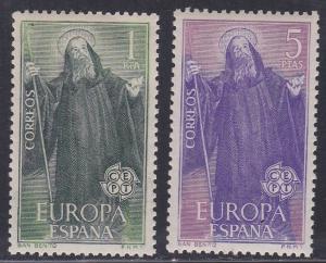 Spain # 1313-1314, Europa, NH, 1/2 Cat.