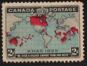 CANADA - 2c Christmas 1898 SC86 Mint No Gum