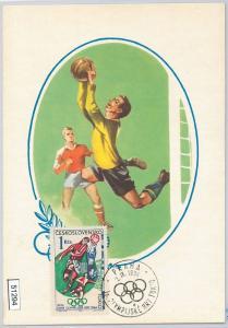 51294 - Czechoslovakia - MAXIMUM CARD - 1964 OLYMPIC GAMES in TOKYO: FOOTBALL