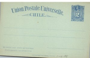 Chile, Government Postal Card