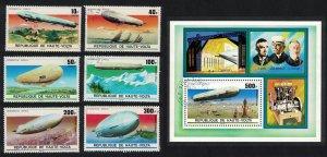 Upper Volta Zeppelin Anniversary 6v+MS MI#625-631+Block 42 SC#395-397+C234-C236