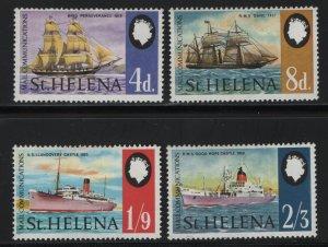 St. Helena MNH 224-7 Ships 1968