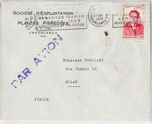 59295  -    MOROCCO - POSTAL HISTORY: COVER to ITALY - 1969