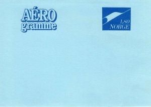 NORWAY AEROGRAMME   FDC8752