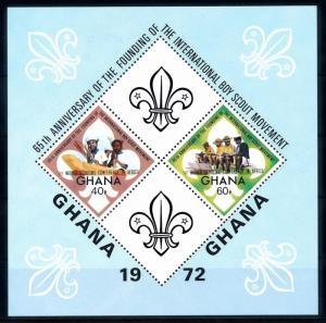 [66781] Ghana 1973 Scouting Pfadfinder with Overprint Souvenir Sheet MNH