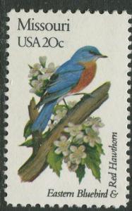 USA - Scott 1977 - State Birds & Flowers - 1982 - MNG - Single 20c Stamp