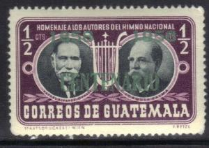 GUATEMALA SC# 376 **MH** 1958  1/2c  OVERPRINT  SEE SCAN