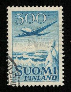Finland, 1950, Airmail, Airplane - Douglas DC-6, 300 Mk (Т-8201)