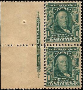 300 Mint,OG,NH... Imprint Pair... SCV $60.00
