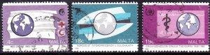 MALTA 1988 4c/18c/19c Anniversaries & Events Set Multicoloured SG829/831 FU