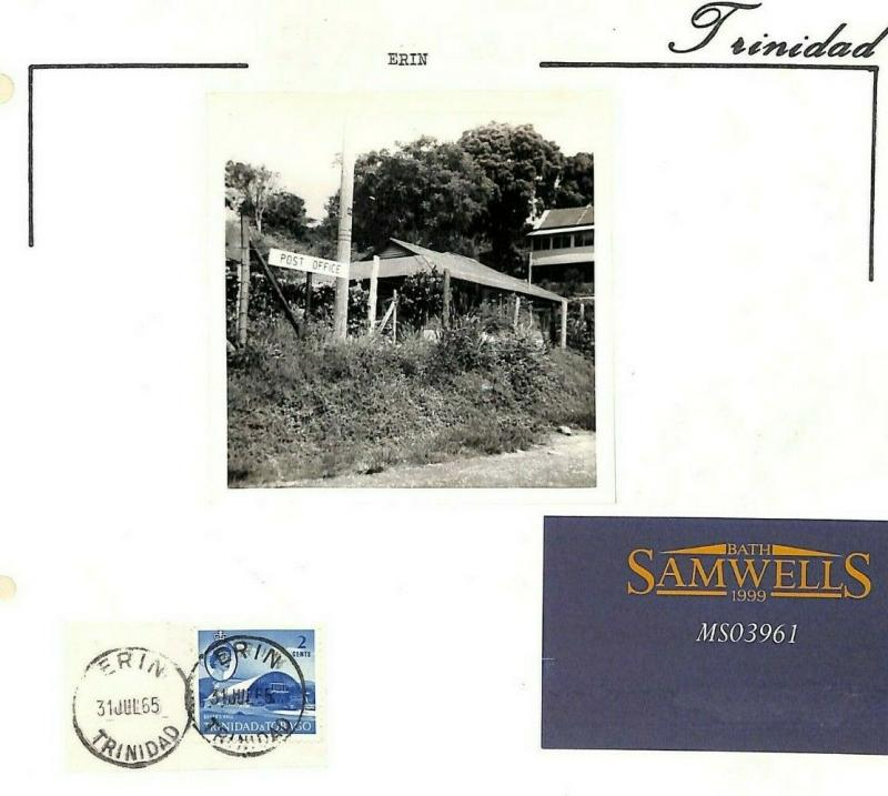 TRINIDAD & TOBAGO Postmarks & Photo *Erin* [samwells-covers] QEII MS3961