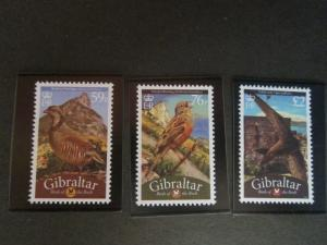 Gibraltar 2010 Sc 124-6 Bird set MNH