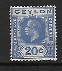 CEYLON  237    MINT HINGED KING GEORGE V