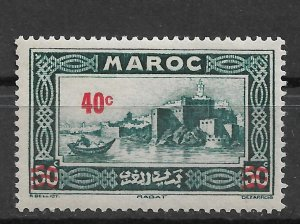 French Morocco 1939, Surcharged, Scott # 148, VF-XF MNH** (FR-1)